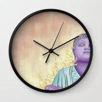 buddhism Wall Clocks featuring Buddhism by Handsomecracker