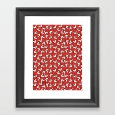 Birds {All birdie around - red} Framed Art Print