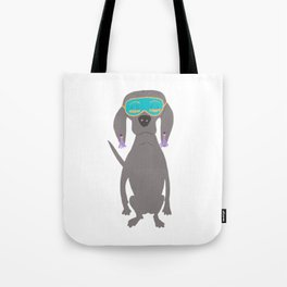 Weim in Holly's Aqua Sleeping Mask Grey Ghost Weimaraner Dog Hand-painted Pet Drawing Tote Bag