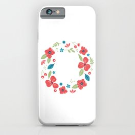 Florist A Colorful Life Flowers Bouquet Gardener Gift iPhone Case