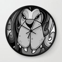 Lion - Harbour Mist Grey Wall Clock