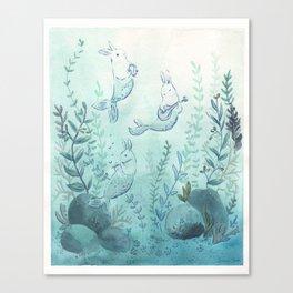 Merbuns Canvas Print