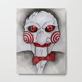 Jig Saw Horror Art Metal Print