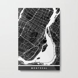 Montreal - Minimalist City Map Metal Print