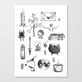 Witchy Habits Canvas Print