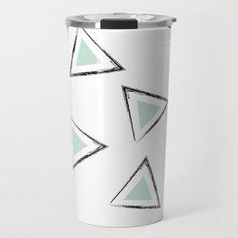 Mint Triangles Travel Mug