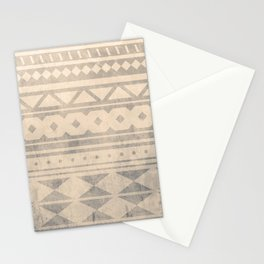 Ethnic geometric pattern with triangles circles shapes and lines Stationery Cards