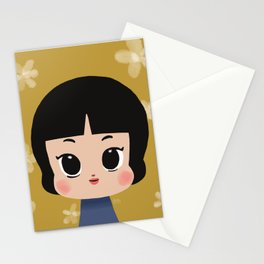 Millie, the pastel yellow Stationery Cards