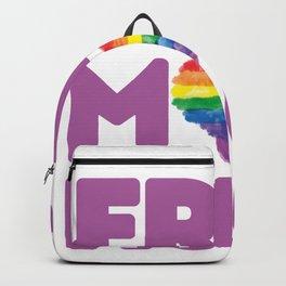 Free Mom Hugs, Free Mom Hugs Rainbow Gay Pride Backpack