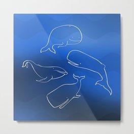 Happy Whales Metal Print