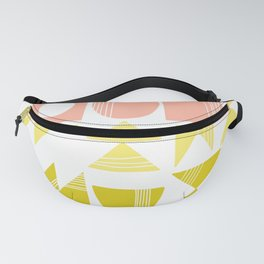 Organic Abstract Shapes in Soft Pastel Colors Fanny Pack