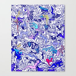 Kamasutra LOVE - Indigo Blue Canvas Print