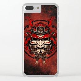 Samurai Mask, Budo, Bushido, Clear iPhone Case