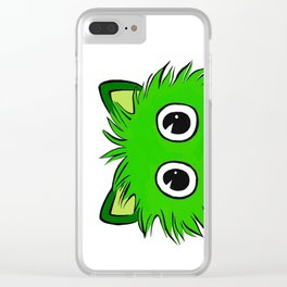 Zoomed in green Clear iPhone Case