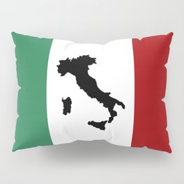 Italian Flag & Boot Pillow Sham