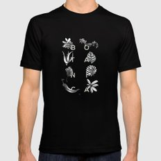 Botanica Letters | Pale Green MEDIUM Black Mens Fitted Tee