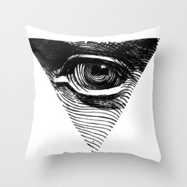 THE EYES OF DAVID Throw Pillow