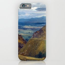Theodore Rousseau View of Lake Geneva iPhone Case