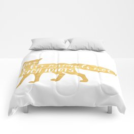FUR IS FOR ANIMALS NOT RICH IDIOTS vegan fox quote Comforters