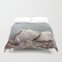 Extremal Groundhog  or King of the Mountain Duvet Cover