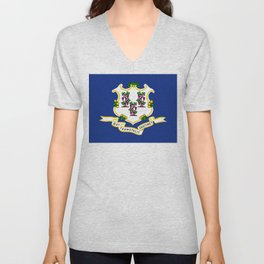 Connecticut State Flag Unisex V-Neck