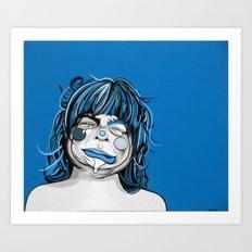Little Blue Girl Art Print