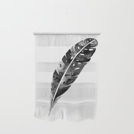 Watercolor feather Wall Hanging