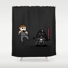 Pixel Wars Shower Curtain