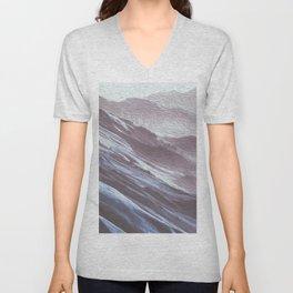 Blue Grey Mountains 1 Unisex V-Neck