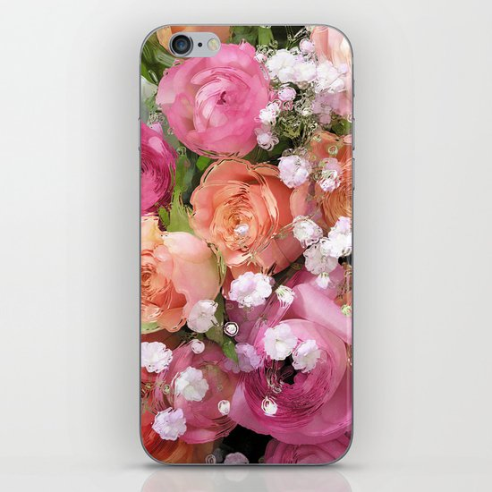 Baby's Breath and Candy Roses iPhone & iPod Skin