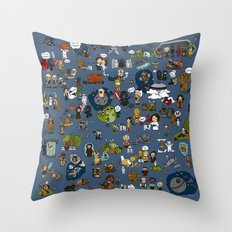 Teeny Tiny Galaxy Throw Pillow