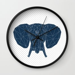 Faceted Elephant Wall Clock
