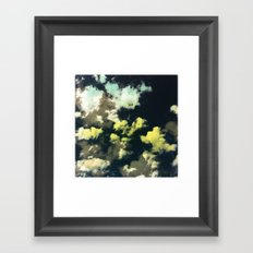 Puffy Clouds Framed Art Print
