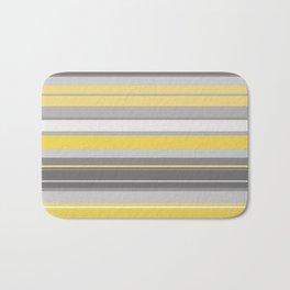 yellow and grey horizontal Bath Mat