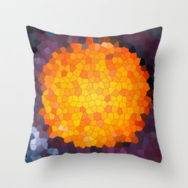 Abstract round mosaic background Throw Pillow