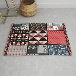 Favorite blanket and pillows . Patchwork 1 Rug