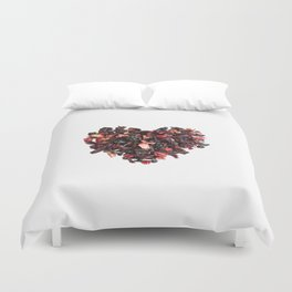 petals tea formed in heart shape Duvet Cover