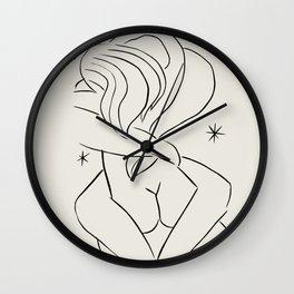 Vintage poster-Henri Matisse-Linear drawings-Tenderness. Wall Clock