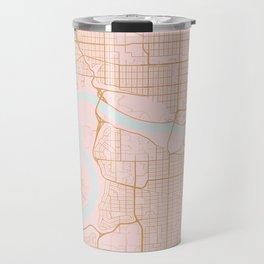 Edmonton map, Canada Travel Mug