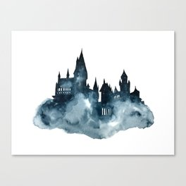 Hogwart Castle Watercolor Canvas Print