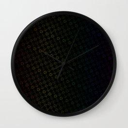 D&D Dice Pattern Wall Clock