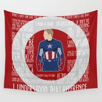 avenger Wall Tapestries featuring The First Avenger by MacGuffin Designs