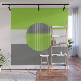 Lime Pastel Geometry Wall Mural