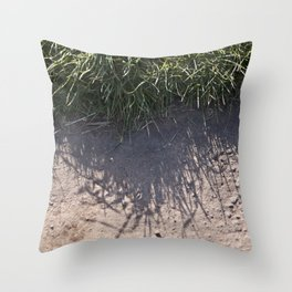 The Grass and it's Shadow Throw Pillow