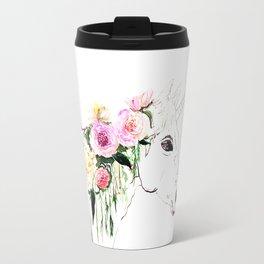 Unicorn, flowers, watercolor Travel Mug
