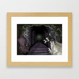 When candelights flicker... Framed Art Print