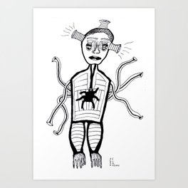 Spider Heart Art Print