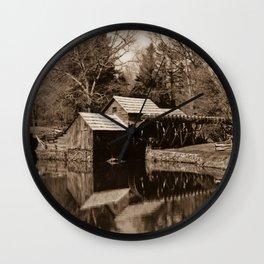 Mabry Mill (Sepia) Wall Clock