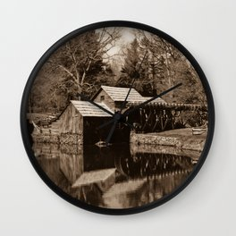 Mabry Mill (Sepia) Wall Clock