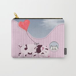 Baby Pig and Cat Design Carry-All Pouch